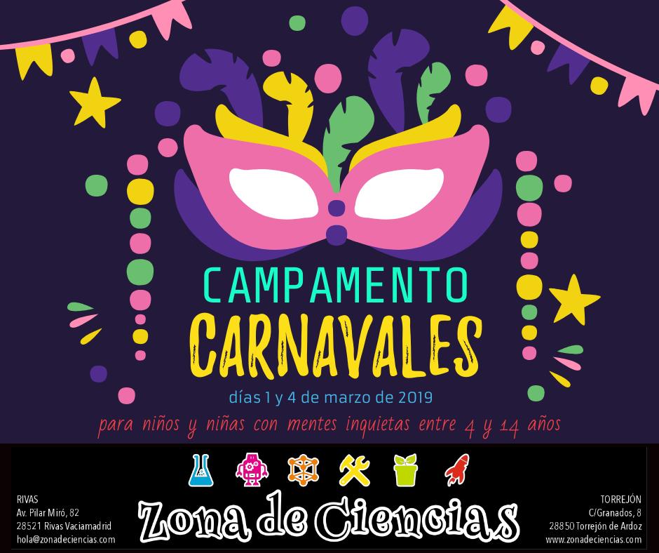 Campamento para niños y niñas con mentes inquietas en el que usaremos la temática de carnavales para crear usando la ciencia y la tecnología.